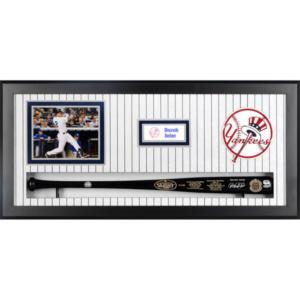 Derek Jeter New York Yankees Fanatics Authentic Framed Autographed Bat Shadowbox