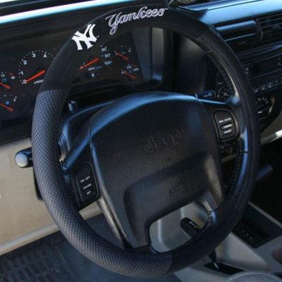 New York Yankees Black Steering Wheel Cover