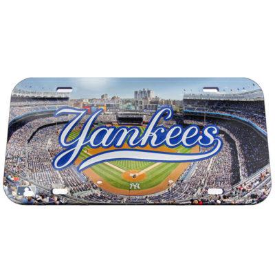 New York Yankees WinCraft Stadium Crystal Mirror License Plate