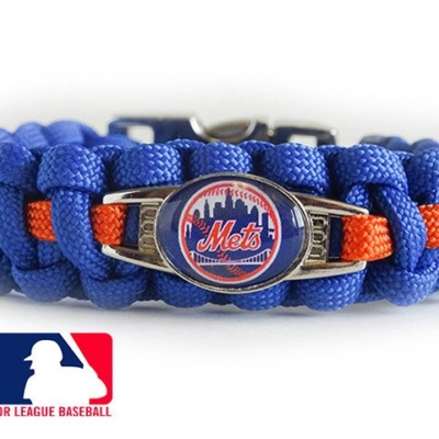 OFFICIALLY LICENSED MLB NEW YORK METS PARACORD  BRACELET