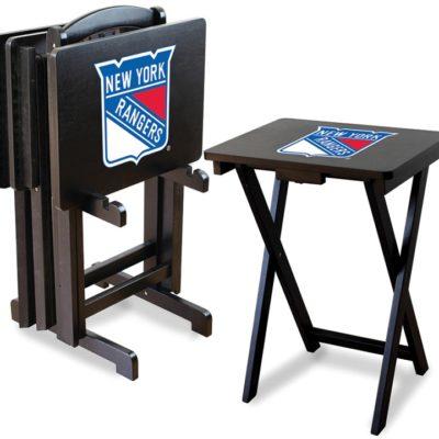 New York Rangers NHL TV Snack Tray/Table Set
