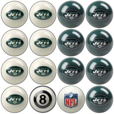 New York Jets NFL Home vs Away Billiard Ball Set–
