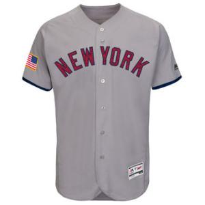 Men's New York Yankees Majestic Gray Fashion Stars & Stripes Flex Base Jersey