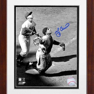 Yogi Berra Signed, Framed Catching Pop-Up Photo–