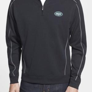 'New York Jets – Edge' DryTec Moisture Wicking Half Zip Pullover–