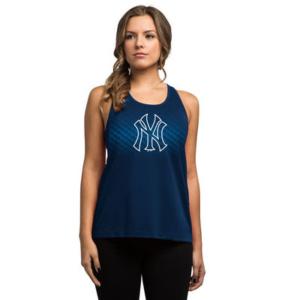 New York Yankees Majestic Women's Respect the Training Tank Top – Navy