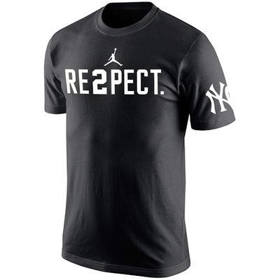 101ae731c69 Derek Jeter New York Yankees Jordan RE2PECT T-Shirt - Black- NY Sports Shop