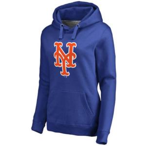 New York Mets Women's Team Color Primary Logo Pullover Hoodie – Royal-
