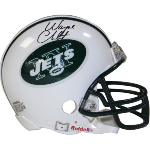 Wayne Chrebet Signed New York Jets Mini Helmet