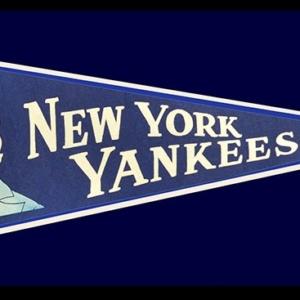 Vintage 1950s New York Yankees Pennant in Frame