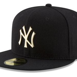 New York Yankees New Era MLB Premium O'League Gold 59FIFTY Cap
