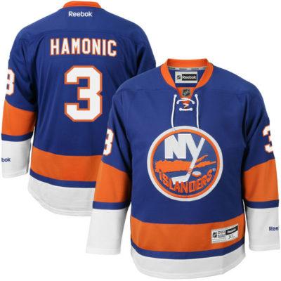 Men's New York Islanders Travis Hamonic  Royal Blue Premier Player Jerseyny sports shop