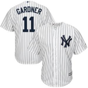 Men's New York Yankees Brett Gardner White Home Cool Base Player Jersey