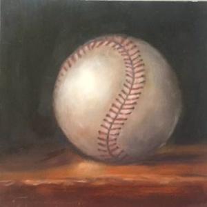 Baseball Painting by Mb Hucker