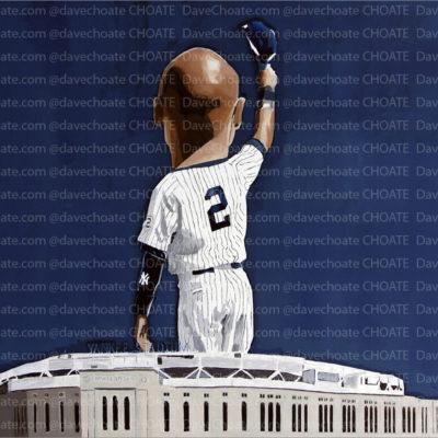 Art Photo Print. Derek Jeter, New York Yankees. choateart