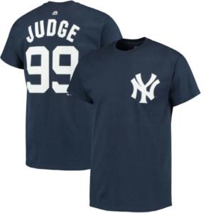 Men's New York Yankees Aaron Judge  Navy Official Name & Number T-Shirt