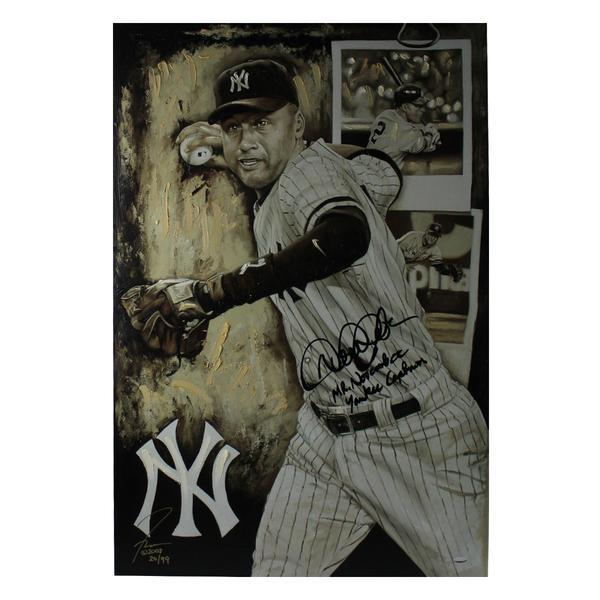 Derek Jeter Signed Limited Edition of 99 24x36 Giclee Mr November Yankee Captain Inscription