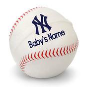 NY Yankees Personalized Baseball Pillow