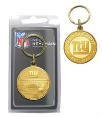 "New York Giants ""Stadium"" Bronze Coin Keychain"