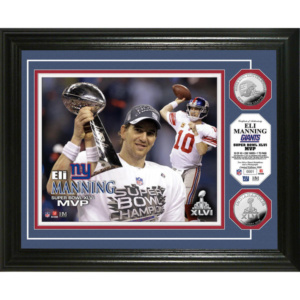 "Eli Manning New York Giants 13"" x 16"" Super Bowl XLVI MVP Silver Coin Photo Mint"