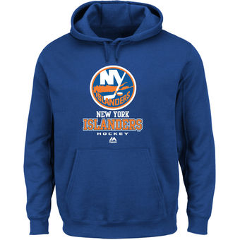 New York Islanders Majestic Royal Blue Critical Victory VIII Fleece Hoodie