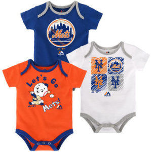 New York Mets Newborn & Infant Bodysuit Set
