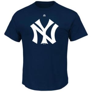 New York Yankees Navy Premium Cotton Cooperstown Logo T-Shirt