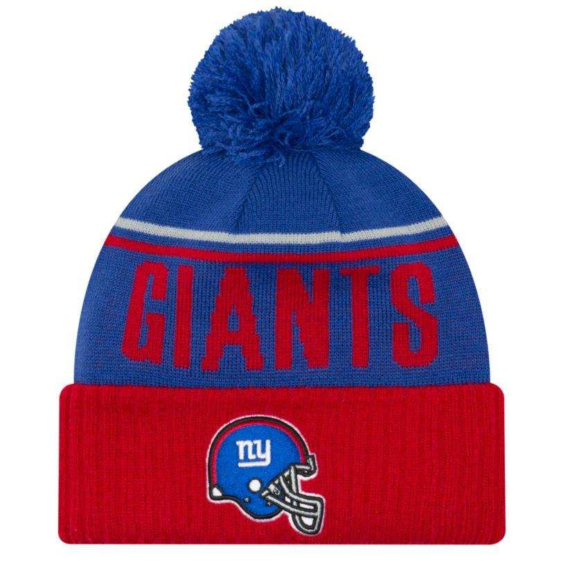0d8ef63d409 NEW YORK GIANTS-NEW ERA NFL CHEER CUFF POM KNIT HAT- NY Sports Shop