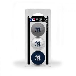 New York Yankees 3 Pack of Golf Balls