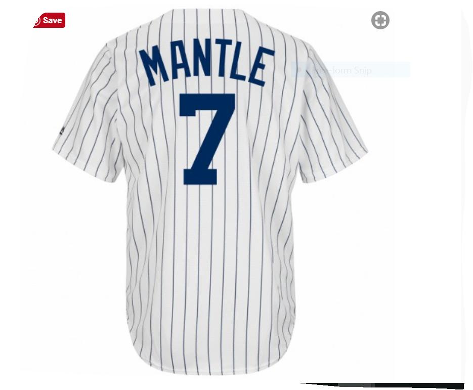 New York Yankees Mickey Mantle Cooperstown Replica Baseball Jersey ... 278bbca0c8c