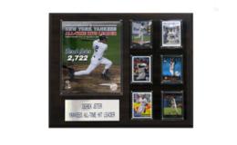 MLB 16 x 20 in. Derek Jeter All Time Yankee Hit Leader New York Yankees Player Plaque