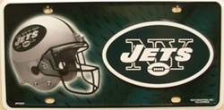 NY Jets NFL Football License Plate -