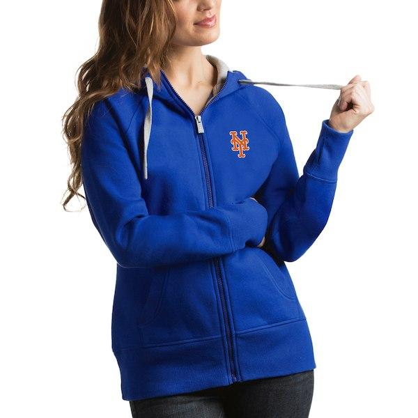 on sale bfd96 b3388 New York Mets Antigua Women's Victory Full-Zip Hoodie -