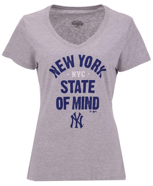 04202525e0f28 New York Yankees Hometown T-Shirt-Women s-Majestic - NY Sports Shop