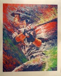 Original DEREK JETER Poster Print Hand Signed by Artist Lopa