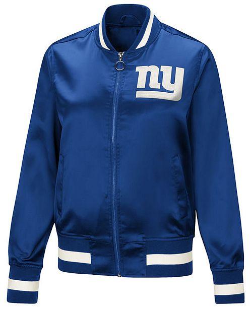 64901212a Women s New York Giants Touch Satin Bomber Jacket - NY Sports Shop